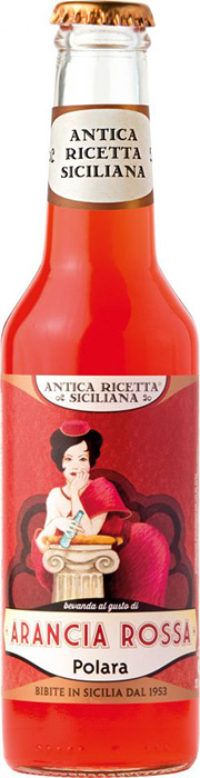 """Antica Ricetta Siciliana"" Aranciata Rossa - Sicilian Blood Orange soft drink, made with the juice of Sicilian blood oranges"