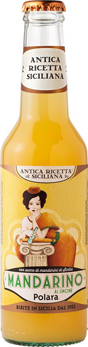 """Antica Ricetta Siciliana"" Mandarino al limone - Mandarin with lemon drink with juice from mandarins (12%) and lemons (5%) of Sicily"