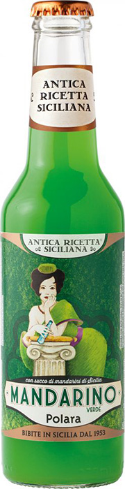 """Antica Ricetta Siciliana"" Mandarino verde - Traditional drink with 15% of Sicilian green mandarin juice"